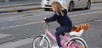 Imparare ad andare in bici all'aria aperta